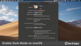 How to enable Dark Mode on macOS