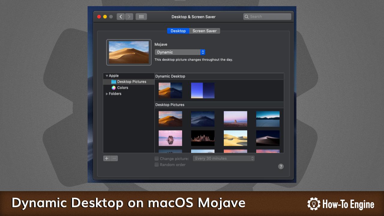 Enabling Dynamic Desktop on macOS Mojave