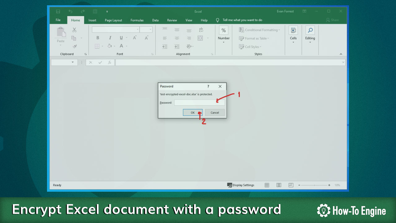 How to encrypt an Excel document