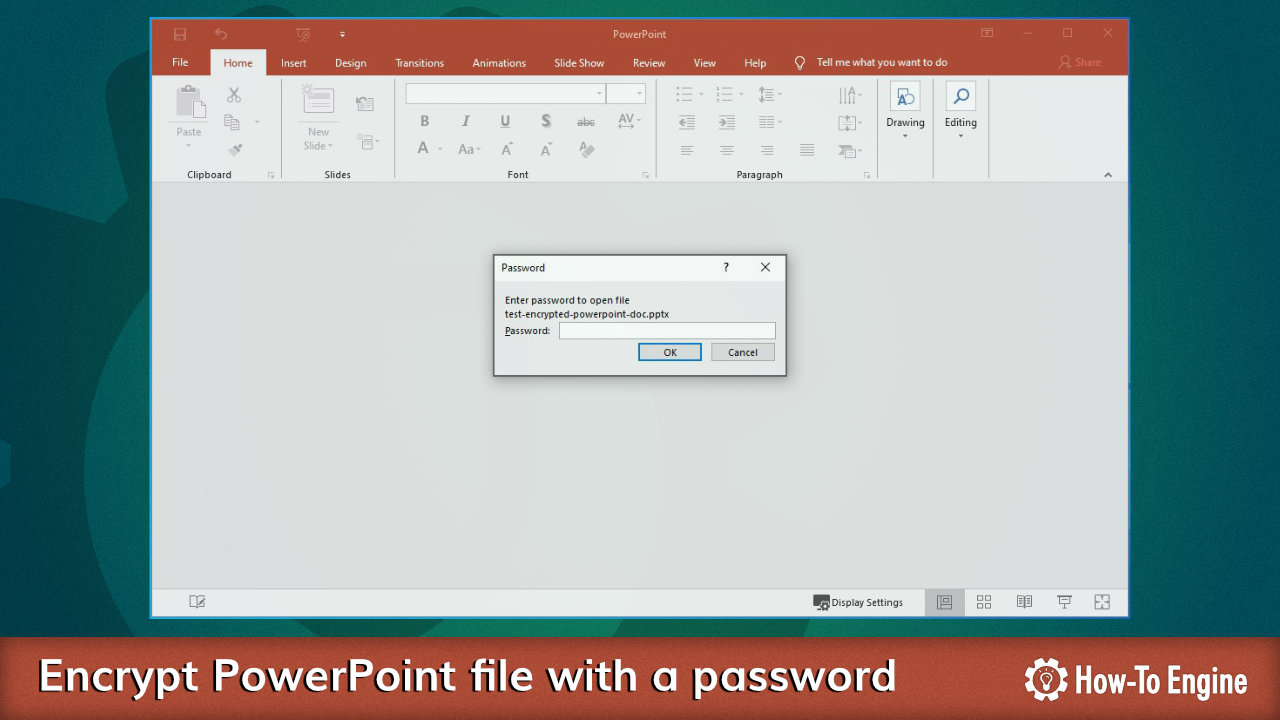 How to encrypt a PowerPoint document
