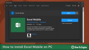Installing Excel Mobile on PC
