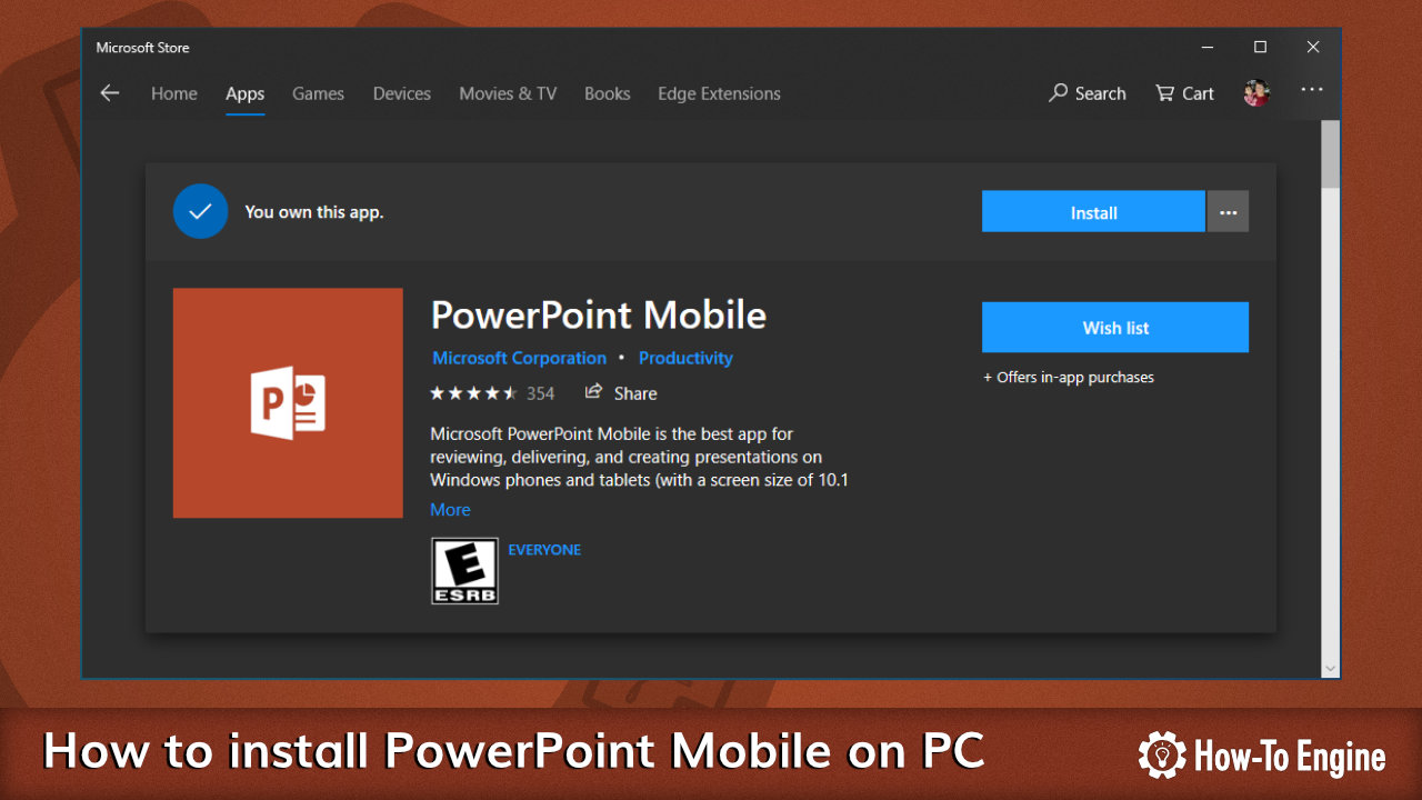 Installing PowerPoint Mobile on PC