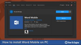 How to install Word Mobile on your Windows 10 PC for Free