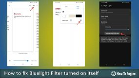How to fix bluelight filter